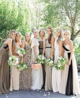 Molly Sims wedding photo by Gia Canali - Molly and her bridesmai